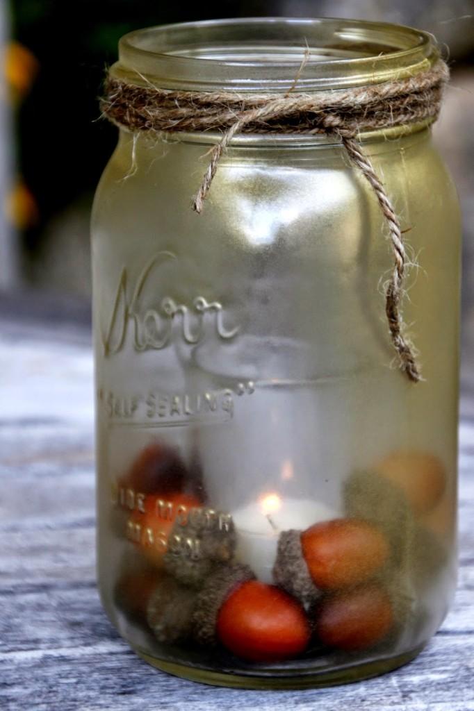 mason jar candle Tillys' Nest