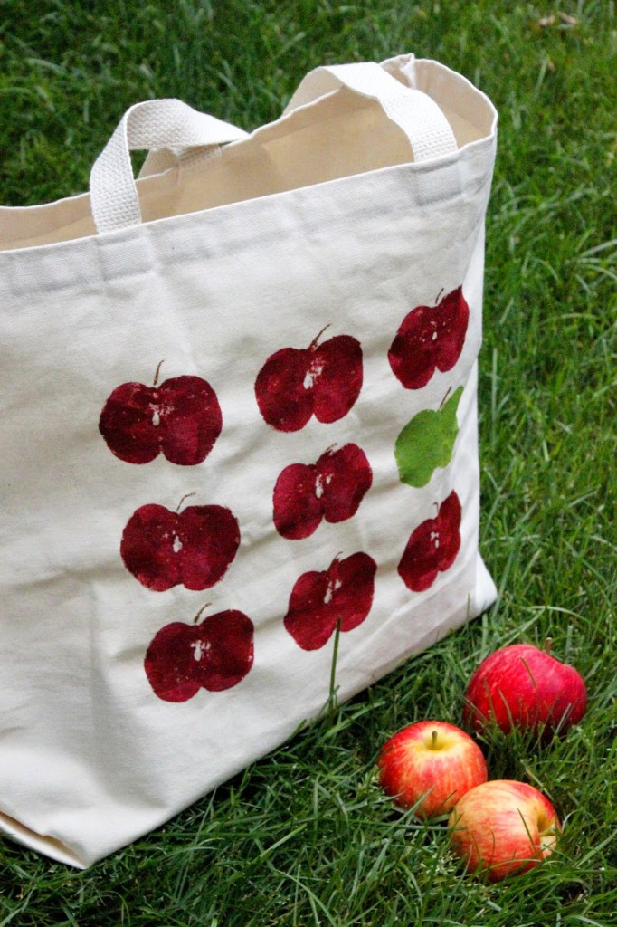 apple picking tote craft