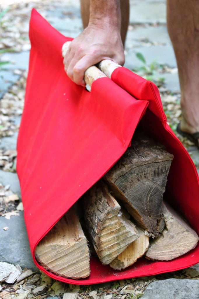 firewood canvas tote