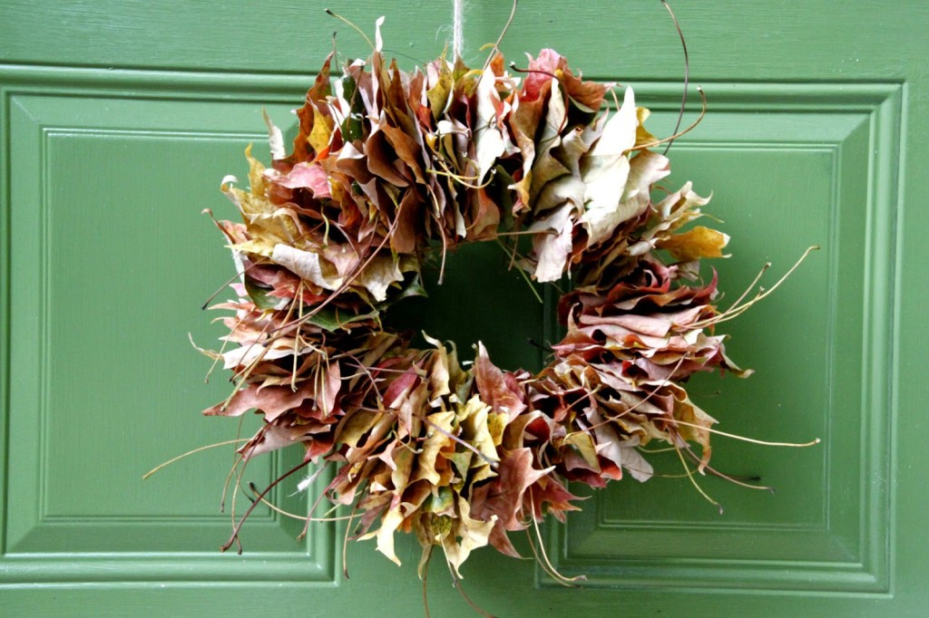 DIY leaf wreath