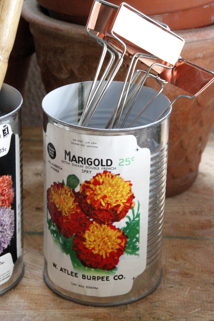 vintage seed packet containers