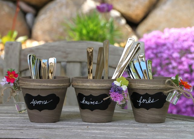 HGTV craft bud vase utensil holder
