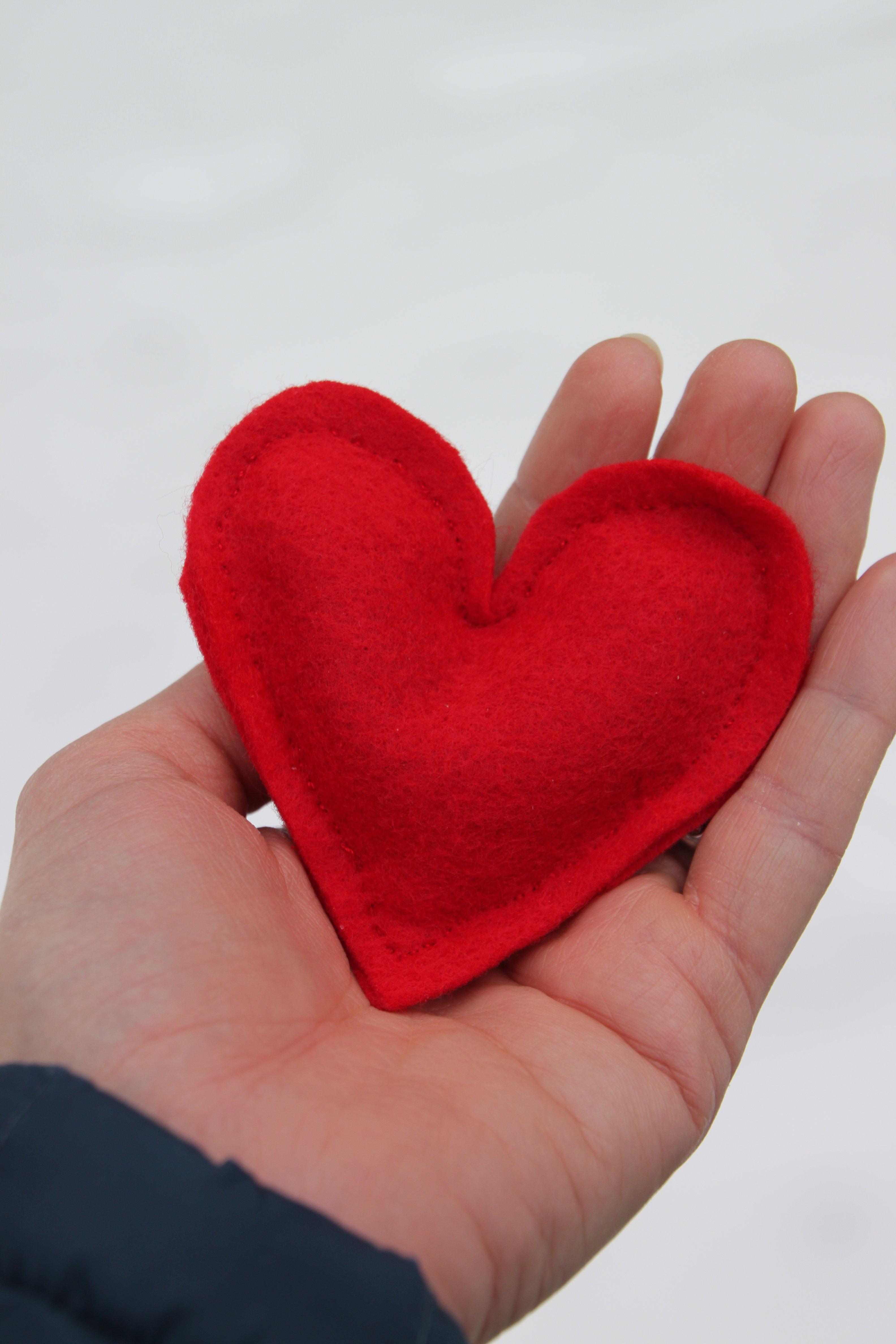 Felt heart hand warmer TillysNest
