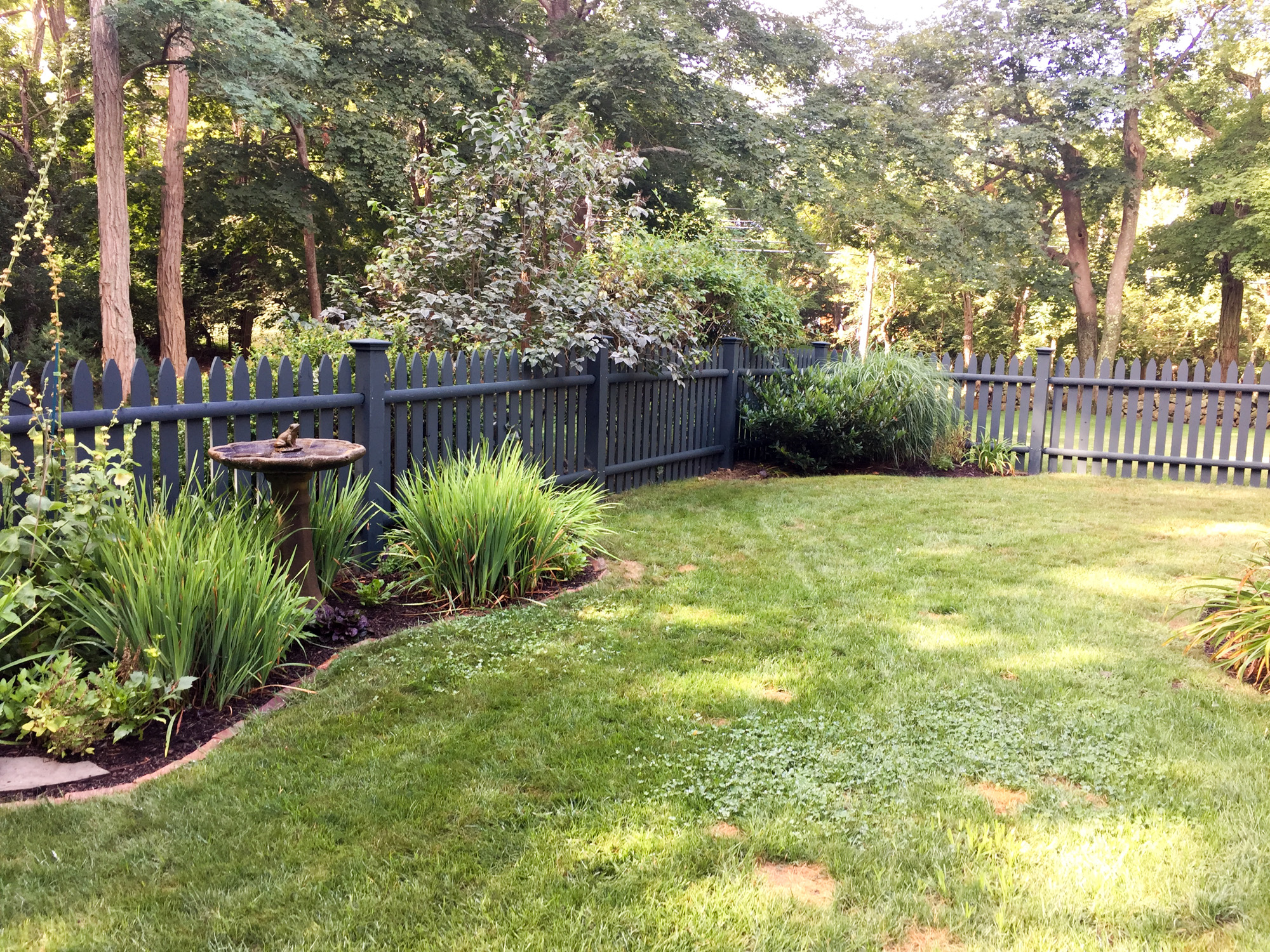 New fence after preparing for the garden fence