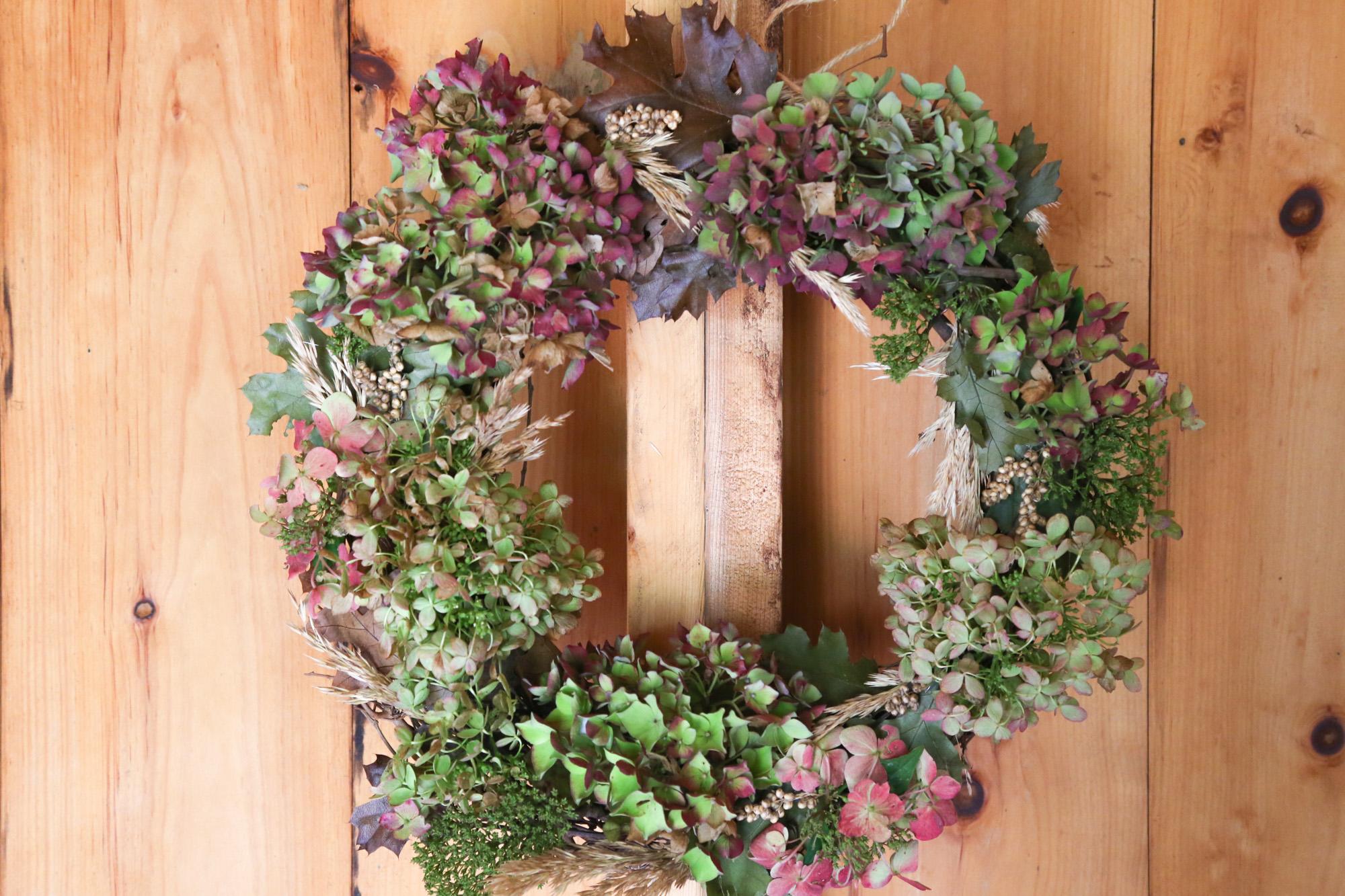 Coastal Hydrangea Wreath