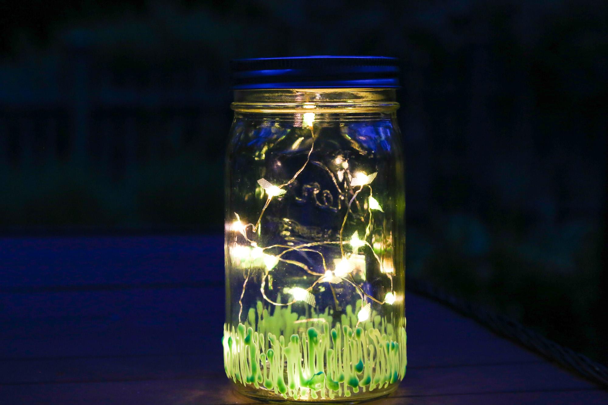 Firefly lantern from mason jar