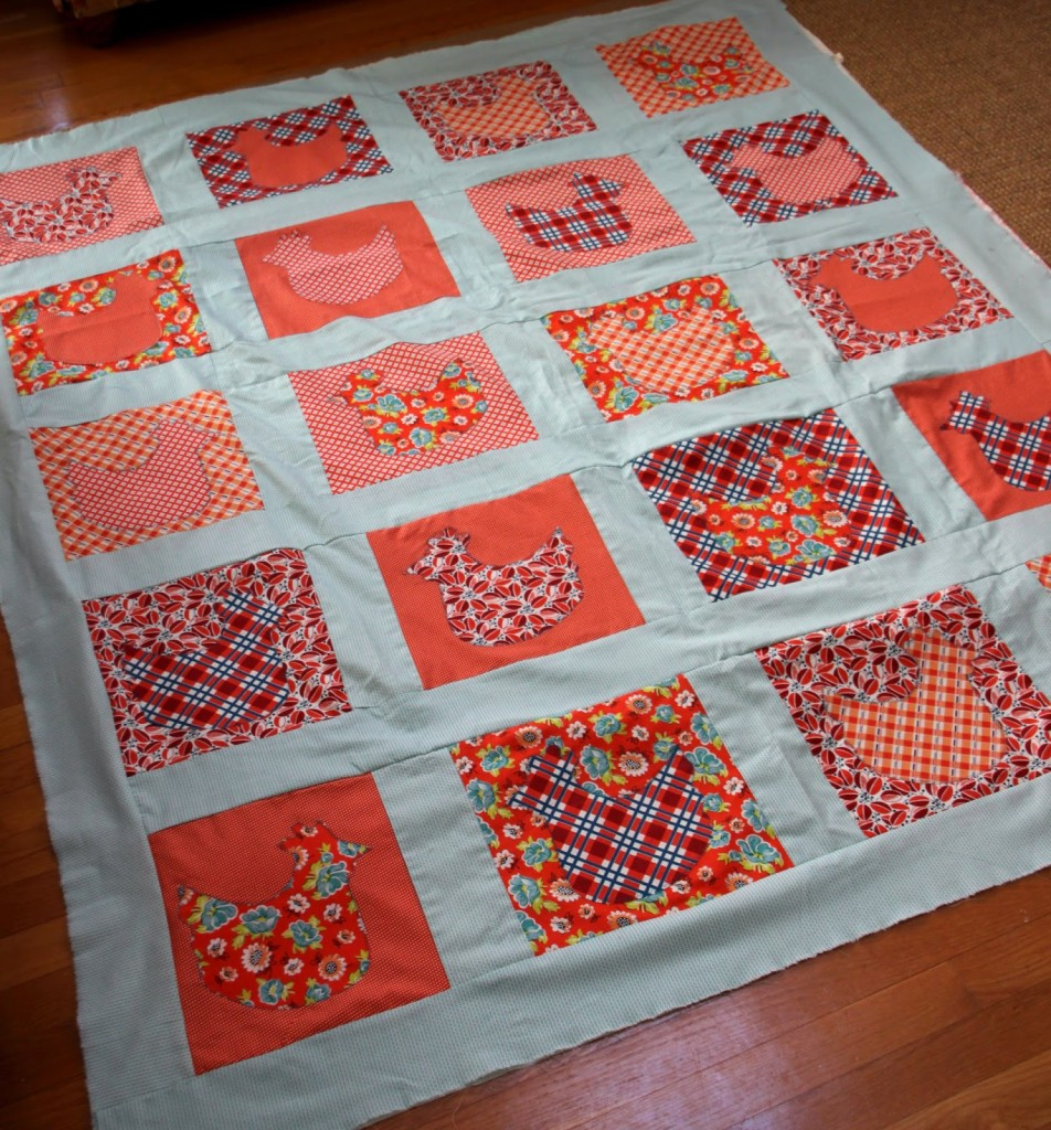 join us for chicken quilt step four