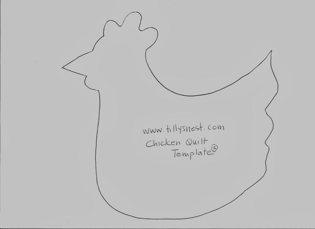 Chicken quilt template