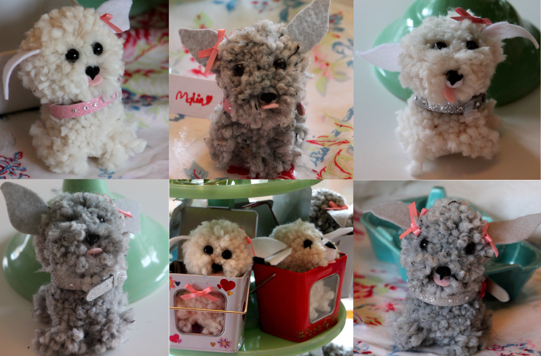 Tilly's Nest pom pom puppy collage wp