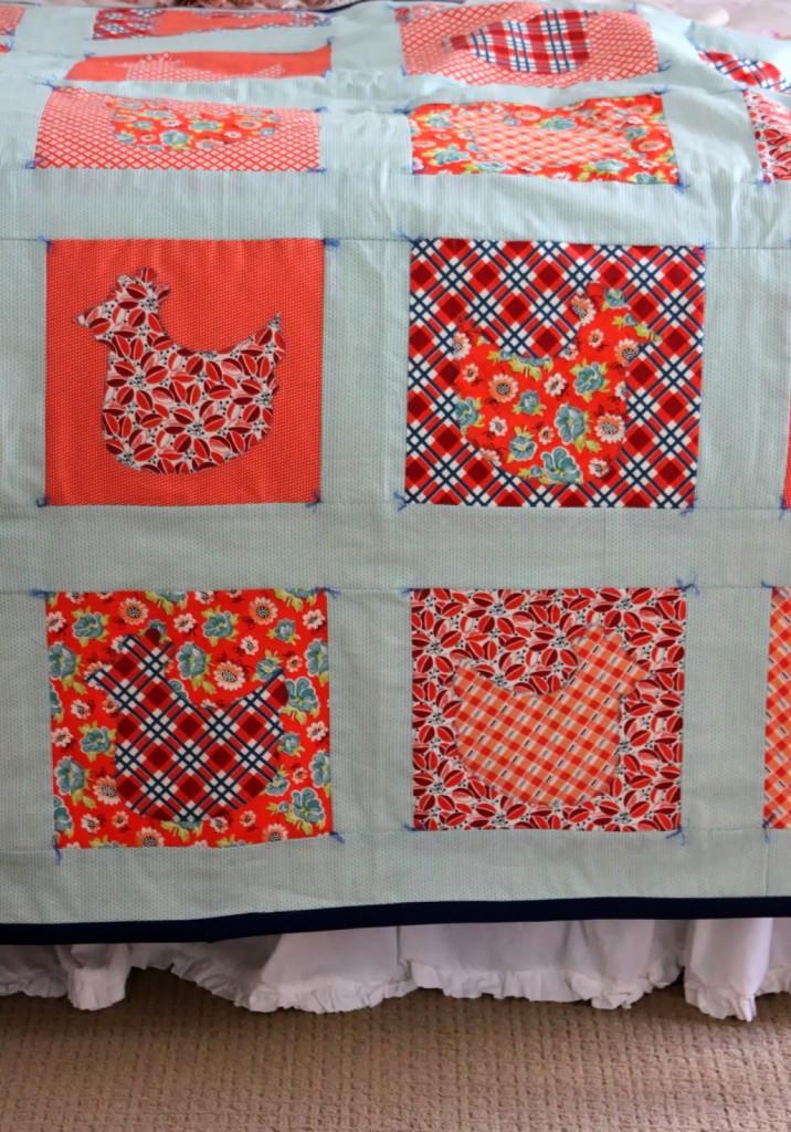 chicken quilt part five final product