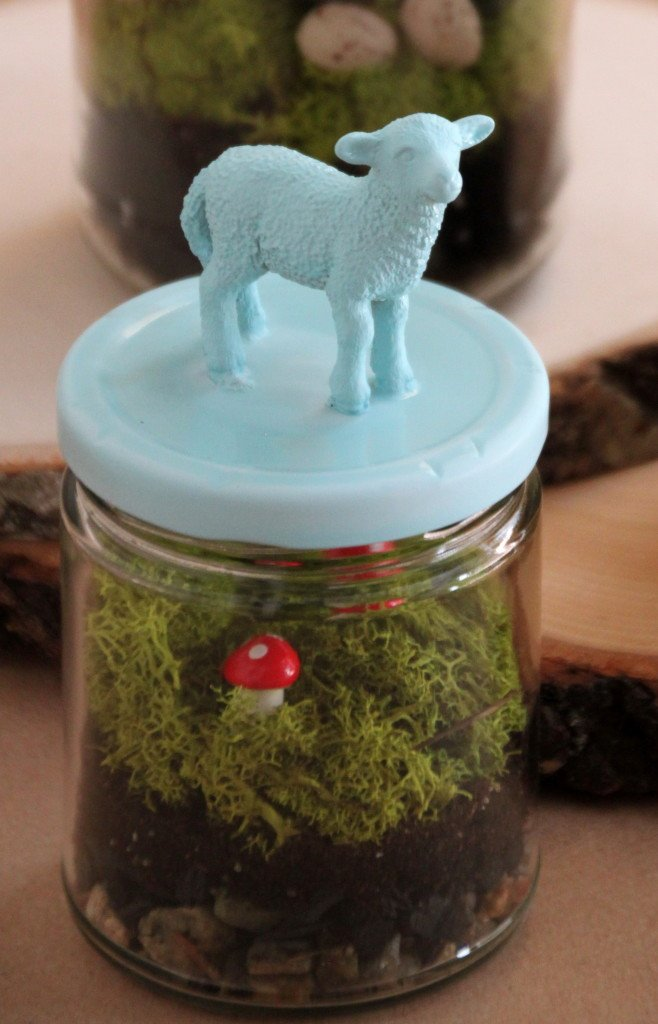 Tilly's Nest- upcycled spring lamb terrarium