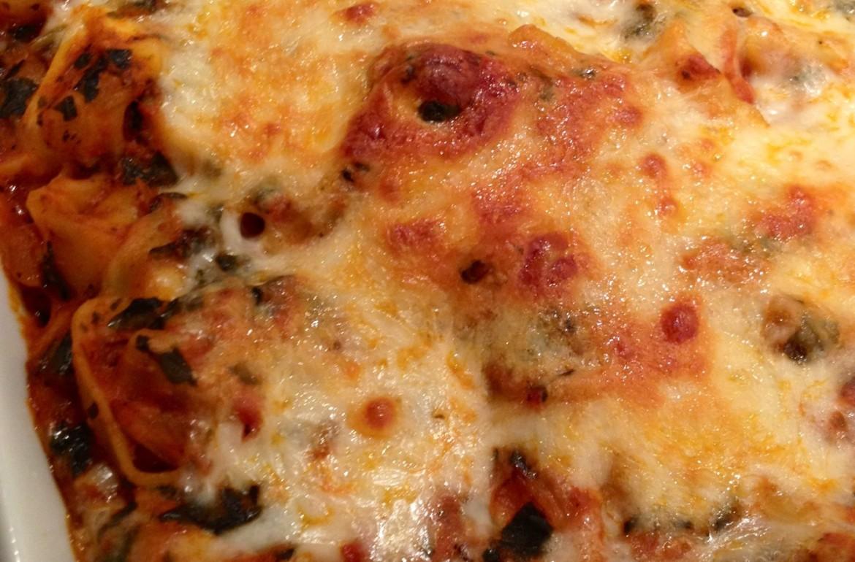 tillysnest-cheese tortellini and basil bake