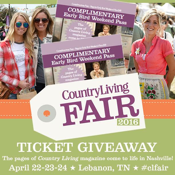 giveaway country living fair tickets tilly 39 s nest